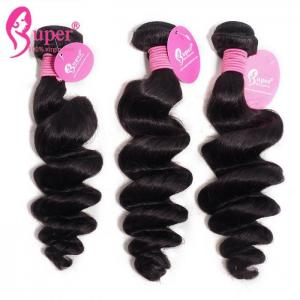 China Cambodian Loose Wave Virgin Hair Weave Bundles Full Cuticle Aligned on sale
