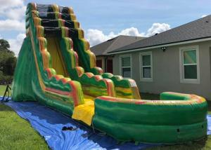 China Popular Inflatable Backyard Water Slide And Pool Safe And Convenient Air Flap on sale