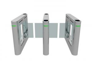 China Hitech Core Biometric Wing Gate Turnstile Access Control Brushless DC Motor on sale