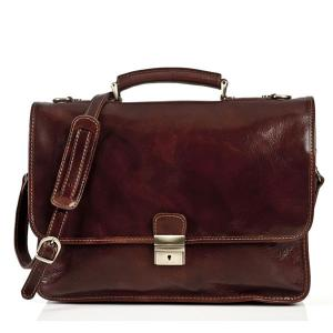 China Italian Oil Vintage Durable Mens Leather Briefcase Bag For Doctor Working on sale