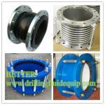 Flange de aço inoxidável da junção de expansão SS316 do fole do metal SS304 e anel-O de NBR para a aplicação de Linepipe