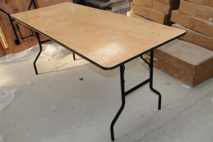 China Waterproof PVC Wood Banquet Tables , Modern Indoor Banquet Folding Tables on sale