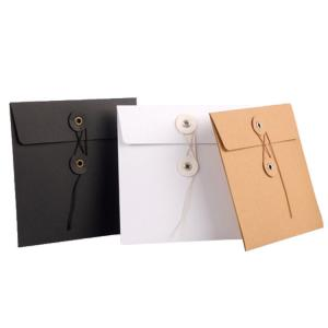 Quality Eco Friendly Paper File Bag , Printed Kraft Paper File Folder Bag for sale