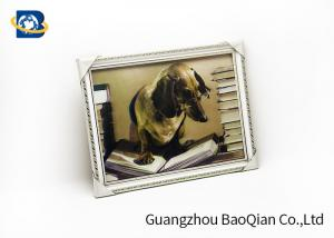 China Dog Animal 3D Lenticular Pictures PVC / MDP Frame Decoration Of Free Sample on sale