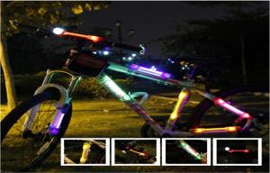 China Mini Purple LED Flashing Bike Light On Frame For Cycling Stick On Clothing on sale