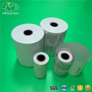 China Deep Thermal Image 80mm Thermal Paper Rolls Neat End Surface High Tightness on sale