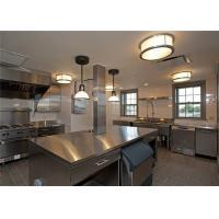Undermount Sink Stainless Steel Restaurant Kitchen Cabinets With Aluminium Handles