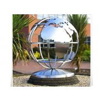 Metal World Globe Map Stainless Steel Sculpture For Public Decoration