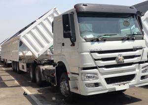 China 3 BPW Axles Hydraulic Side Tipper Trucks , 50 Cbm Side Dump Truck on sale