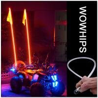 4FT ATV LED Flag Light, RGB LED Flagpole with Wireless Remote, LED WHIPS