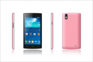 China Pink IPS Touch Screen Mobile Phones 480 x 854 pixels with Bluetooth on sale
