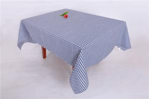 China Checkered Stain Resistant Promotional Table Covers , Rectangle Restaurant Table Cloth on sale