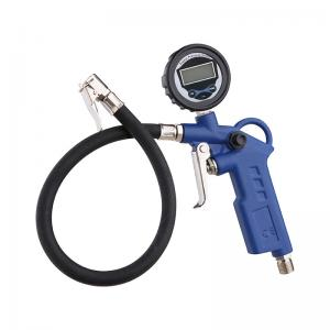 China Digital gauge Tire Inflating Gun Spray Tools For Blow Dust Away Powder Coat Color on sale