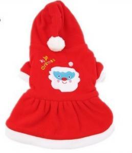 China Shih Tzu velvet winter warm chirstmas pet Custom Dog Hoodies clothes red on sale