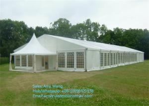 China Marquee Wedding Party Tents , Outdoor Gazebo Tent 4x4m With Glass / ABS Walls on sale