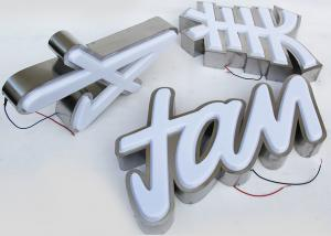 China Plastic 5730 Led Channel Letters 3mm Acrylic Panel With Vacuum Formed 3D Face on sale