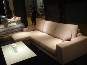 Quality リネン生地の現代ソファー、高密度泡の生地のソファー for sale