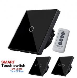 China EU/UK Standard Touch Switch 1 Gang 1 Way, Luxury touch screen switch home automation system on sale