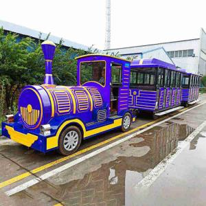 China Theme Park Diesel Train Rides 42 Riders High Performance Long Working Life on sale