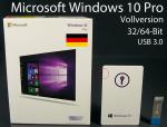 Microsoft Windows 10 Operating System Win10 Pro 32 / 64 Bit Full USB Retail Box