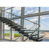 China Wall metal staircase single metal stair stringers straight staircase on sale