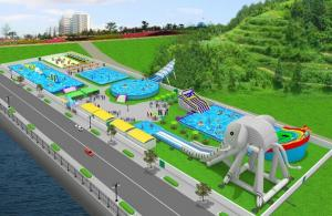China PVC Material Customized Inflatable Products / Water Park Games For Outdoor on sale