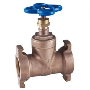 China brass water gate valve non-rising stem, Screwed in Bonnet on sale