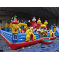 Custom PVC Giant Inflatable Playgrounds For Kids Fun City , UV Resistance