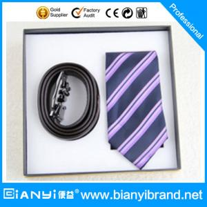 China Latest Popular Satin Fabric Printing Necktie Gift Set For Men on sale