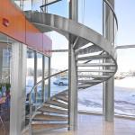 Modern Outdoor Steel Staircase Design Galvanized Spiral Staircase