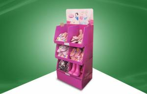 China Stack - up Cardboard Floor Display Stands , Disney Shoes PDQs Display on sale