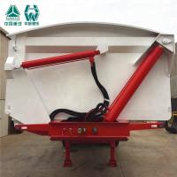 Electronic Control Tri Axle Tipper , Steel Frame Tipping Car Trailer