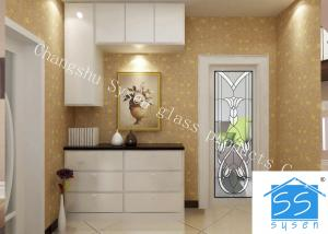 China Security Tempered Glass Panels , Architectural Decorative Door Glass Panels on sale