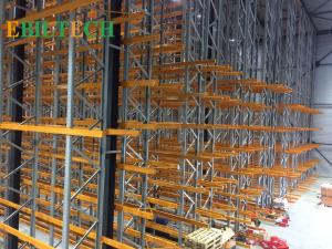 China Orange Q235B  VNA Racking System , Selective Narrow Aisle Pallet Racking System on sale