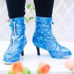 Customerizedのロゴのハイ ヒール雨靴カバー