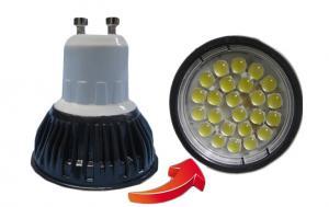 China 450lm 24pcs SMD 5050 LED Spotlight Bulbs / 4 W GU10 Led Spot Light Bulbs in Cold White on sale