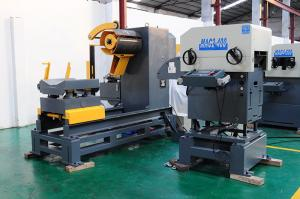 China Material Rack Unwinding Device Decoiler Straightener Feeder 3 In 1 Stamping Automation on sale