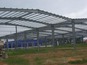 China Pre Engineered Steel Structure Hangar , Steel Pipe Truss Airport Hangar Construction on sale
