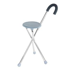 China Folding walking stick seat crutch stool three legged canes for old people on sale