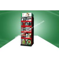 Two Side Show Cardboard Free Standing Display Units With Five Shelf For Kitchenware With UV Coating