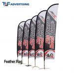 16ft Flag Advertising Banners Large Swooper Anti Corrosion Vertical High Precison