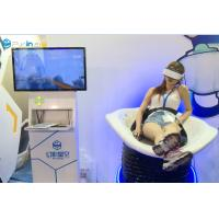 Double Seats Arcade Game VR Slide / VR Shooting Machine With Two Egg Cabins