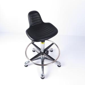 China PU Foam Cushion Ergonomic ESD Chairs With Chrome Gas Lift And Aluminium Base on sale