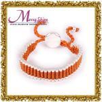 La naranja modificada para requisitos particulares de moda liga la joyería de las pulseras de la amistad de LS021 que platea de plata grueso