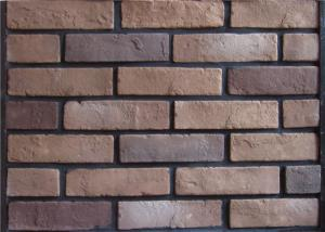China Multipul Color 3D Cement Faux Exterior Brick With Wall Decoration on sale