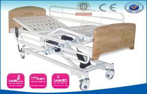China Three Folding Old Man Nursing Home Beds with ABS Head & Foot Board For CPR on sale