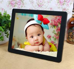 China Decorative Desktop 12 Inch Resistance Touch Screen Digital Photo Frames 800*600 supplier