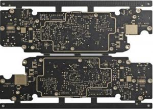 China Black Hdi Circuit Boards Blind Vias Hight TG Copper Clad Single or Double Sided on sale