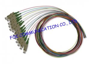 China APC 12 Packs Pigtail Fiber Optic Cable , FTTX Fiber Optic Pigtail Low Insertion Loss on sale