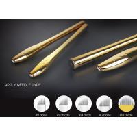 0.2mm Needle Manual Tattoo Pen , EO Gas Sterilized Golden Microblading Pen